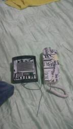 Interfone usado.