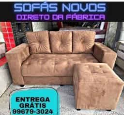 Sofá com Puff Grátis