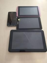 Tablets e celulares somente para retirar peças