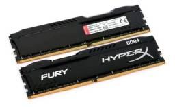 Vendo Memoria Gamer 8gb Ddr4 2666 Mhz Kingston Hyperx Fury Desktop Original Nova!