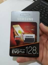 Cartão de memória Samsung 128GB NOVO