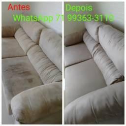 Lavagem a seco de sofá, não se deixe enganar o barato pode sair caro