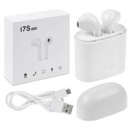 Fone de Ouvido Bluetooth I7S - para Iphone e Android - Branco