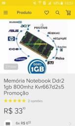 Vendo memória ram ddr2 1gb