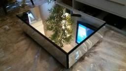 Mesa de Centro Espelhada - praticamente nova