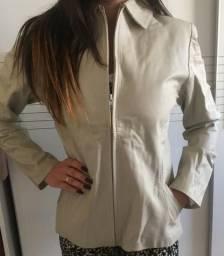 Jaqueta de Couro Off White