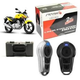 Alarme para moto c/ função presença, na caixa