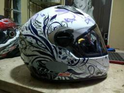 Capacete Floral Gloss 56