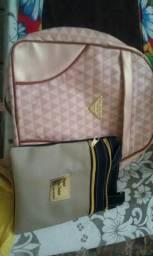 Kit mochila e bolsa apenas 49,99$ mochila tam 30cm