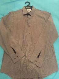 Camisa Social Preston Field Cinza Tamanho M Classic Fit Excelentes Condições Zerada!