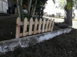 Cerca jardim madeira decoracao