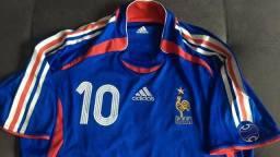 Camisa Oficial adidas Da França Da Copa De 2006 Zidane   10 03589f0f34760