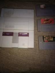 Super Nintendo+ 3 jogos