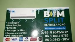 Limpeza, manutenção e instalação de split
