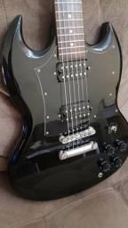 Guitarra Epiphone SG G-310 preta captadores Malagoli