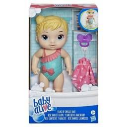 Boneca Baby Alive Bebê Banhos Carinhosos Loira (nova, lacrada)