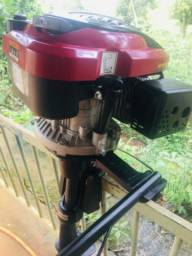 Motor de popa 6,5 hp + rabeta Kawashima