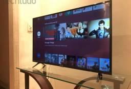 "Vendo ou troco por outra maior e dou volta  tv TCL 43"" Android comando de vóz"
