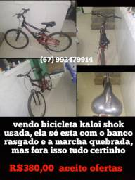 Bicicleta kaloi shok usada (aceito ofertas)