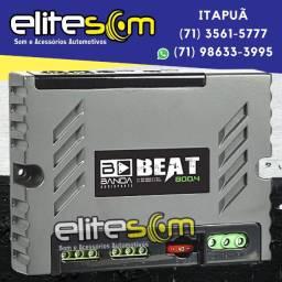 Módulo Amplificador Banda Beat 800.4 4 Canais 2 Ohms instalado na Elite Som
