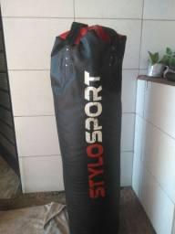 Saco de boxe 140cm cheio + par de luvas treino