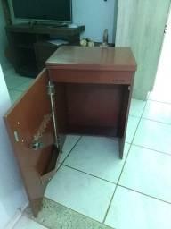 Caixa madeira para máquina de costura
