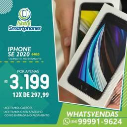 Iphone SE 2 GERACAO (64GB, ANATEL - PRETO/PRATA GARANTIA DE UM ANO ) *ANATEL*