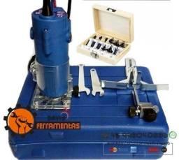 Tupia 650w + Kit Fresa 12 Unidades 6mm C/ Maleta 110v