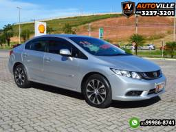 Honda Civic LXR 2.0 Flex Aut.*Câmbio Borboleta*Controle Aut. de Velocidade - 2015