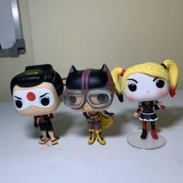 Funko pop original katana, batwoman e arlequina