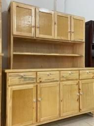 Armário rustico de cozinha, todo de madeira apenas 799,99 a vista