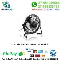 970 - Promoção - Mini Ventilador FAN-7407 USB Portátil<br><br>