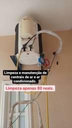 Limpeza de centrais de ar.(80 reais.)