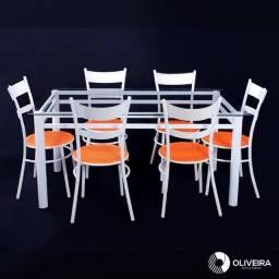 Jogo de mesa c/ 6 cadeiras