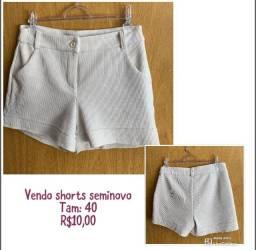 Shorts seminovo 40 branco