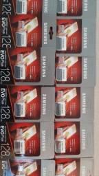 Kit Revenda 10 Unidades Cartão MicroSD 128GB Samsung EVO .