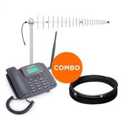 Celular Rural Dual Chip + Antena 17DBI + Cabo 15M- Entrega Gratis
