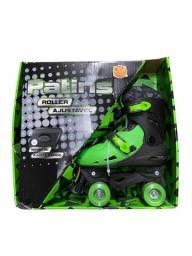 Patins Ajuste Roller Infantil 33-36, 37-40 + Kit Proteção