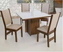 Super Oferta! Mesa com 4 Cadeiras São Carlos em até 10x Sem Juros!
