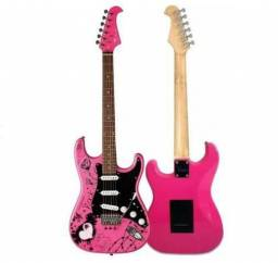 Guitarra Stratocaster Eagle EGP-10 CR Person Rosa<br><br>
