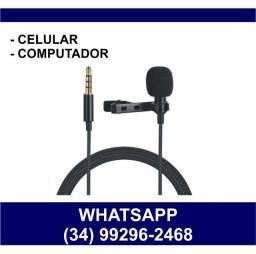 Microfone de Lapela para Celular e Computador