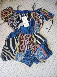 Vestido sort e blusa novos Tam M