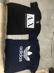 Camisetas novas armani e adidas