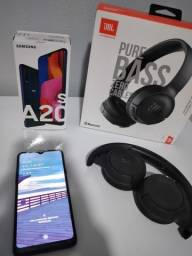 Samsung a20s + fone JBL original