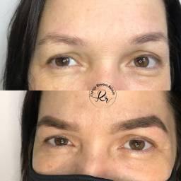 Design de sobrancelha + henna + cílios tufinho