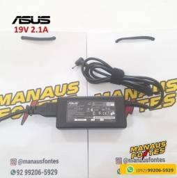 Título do anúncio: Fonte Notebook Asus 19V 2.1A Ponta Fina Novo c/ Garantia