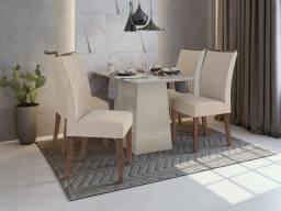 Mesa de Jantar Nevada - Com 4 Cadeiras