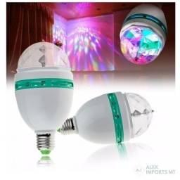 Lampada para festa Led Full Color Rotating Lamp E27 Bivolt
