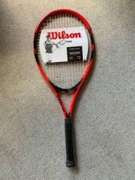 Raquete de tennis nova lacrada wilson
