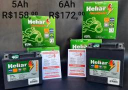 Baterias Heliar  Power Sports Moto 5Ah e 6Ah, 12v